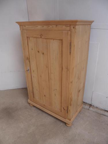 Plain 1 Door Victorian Antique Pine Multi Functional Cupboard to wax / paint (1 of 8)