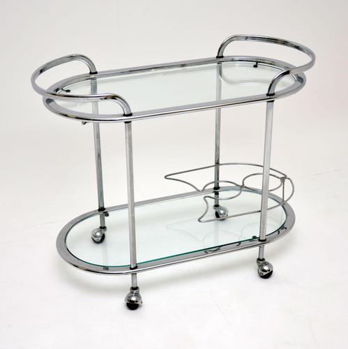 1960's Vintage French Chrome Drinks Trolley (1 of 8)