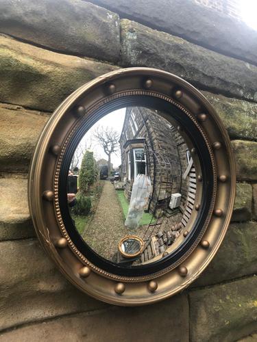 Antique Gilt Framed Convex Mirror (1 of 3)