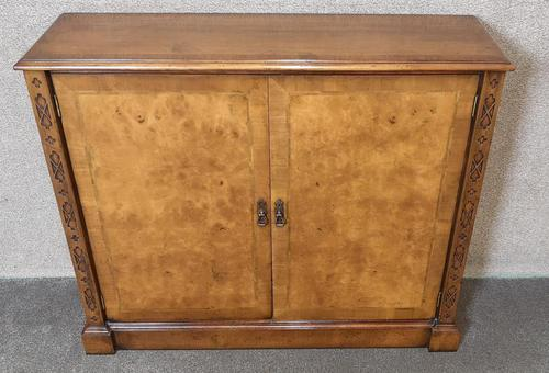 Burr Walnut Side Cabinet / Bookcase Iain James Furniture (1 of 8)