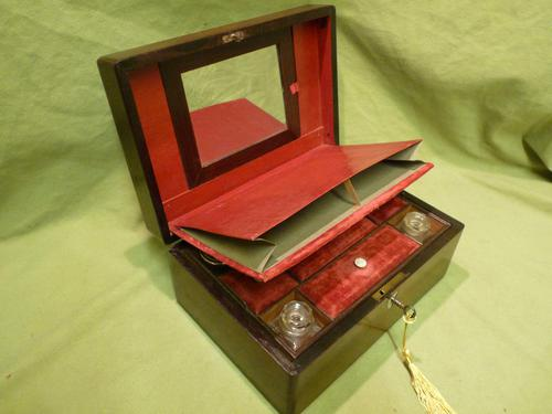 Inlaid Rosewood Jewellery – Vanity Box c.1860 (1 of 14)