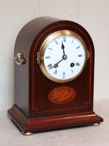Mahogany Arch Top Mantel Clock (1 of 10)