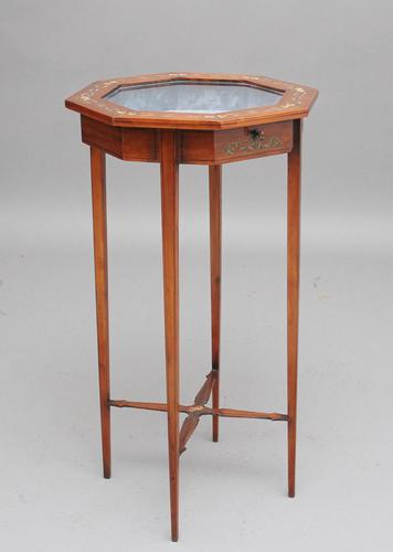 19th Century Satinwood & Painted Bijouterie Table (1 of 10)
