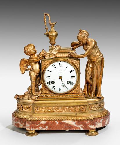 Louis XVI Period Gilt Bronze Mantel Clock (1 of 4)