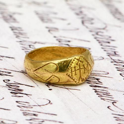The Ancient 9th - 11th Century Gold Michael Ring (1 of 4)