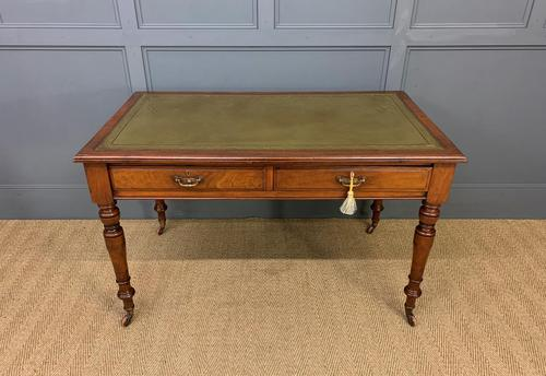 Victorian Walnut 2 Drawer Writing Table (1 of 14)