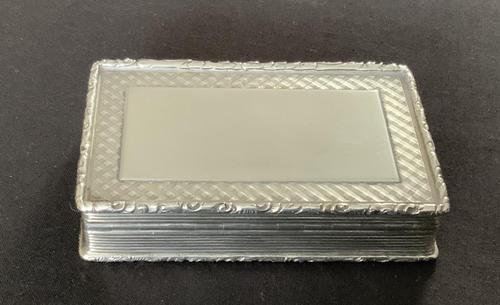 Victorian silver snuff box - Francis Clark (1 of 5)