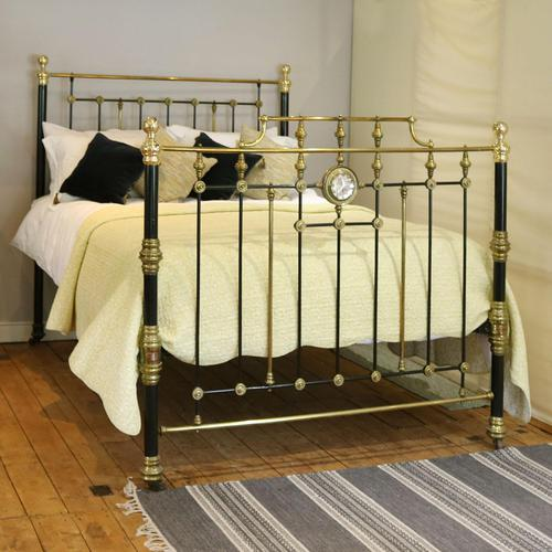 Highly Decorative Cast Iron Antique Bed in Black (1 of 9)