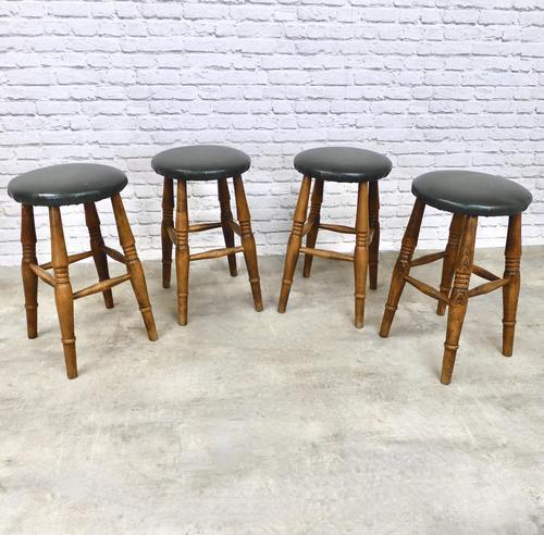 Set of 4 Vintage Bar Stools (1 of 4)