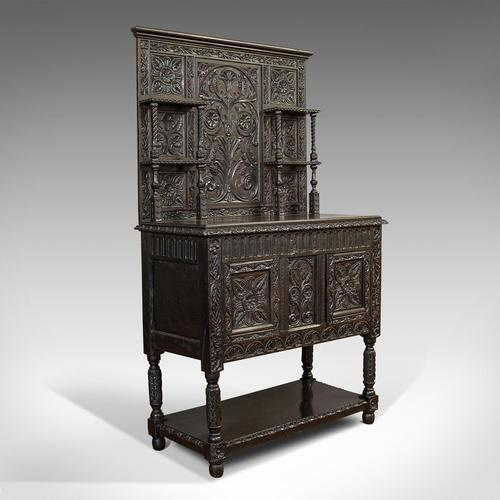 Antique Charles II Revival Dresser, English, Oak, Sideboard, Victorian c.1880 (1 of 10)