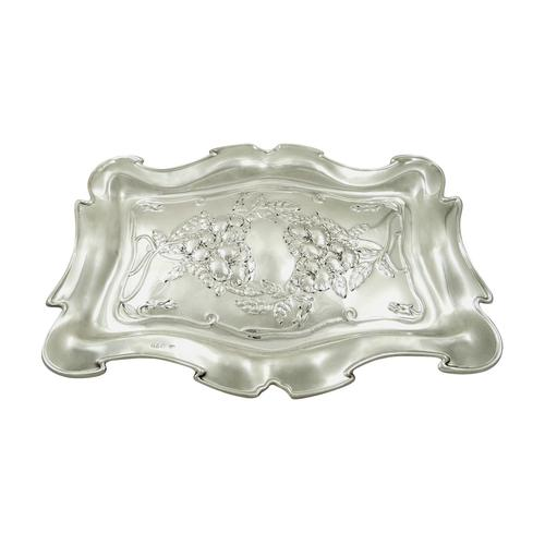 Antique Edwardian Sterling Silver Dressing Tray 1907 (1 of 8)