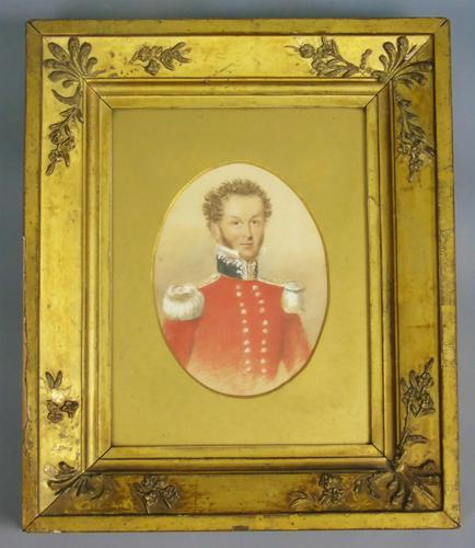 Good Antique Military Officer Portrait Painting (1 of 6)