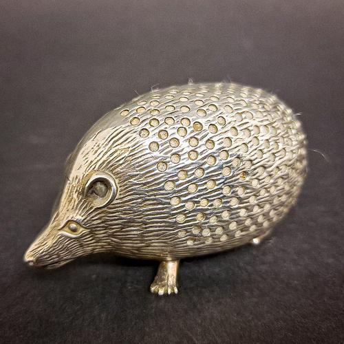 Edwardian Silver Hedgehog Pin Cushion (1 of 6)