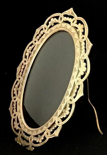 Victorian Brass Oval Easel Photo Frame (1 of 3)