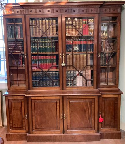 Late Victorian Mahogany 4 Door Library Bookcase (1 of 13)