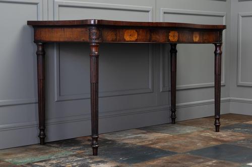 George III Mahogany Serpentine Side / Serving Table (1 of 10)