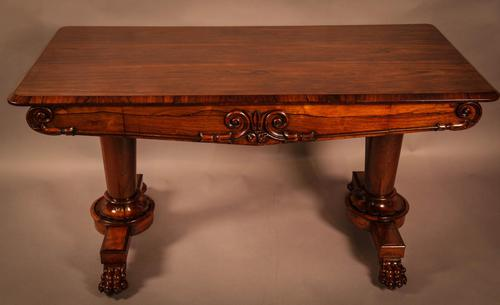 Fine William IV Library Table in Rosewood (1 of 10)