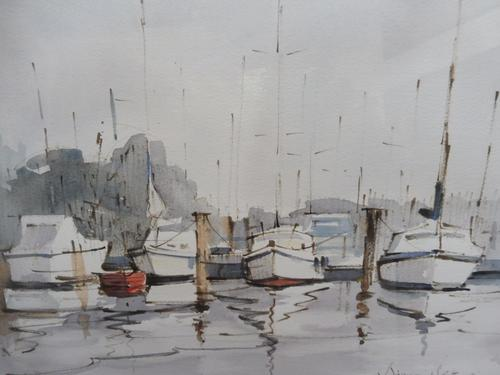 Watercolour The Moorings Listed Artist Diana Scott (1 of 10)