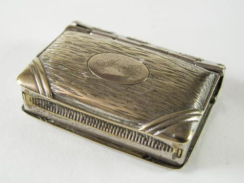 Edwardian Plated Vesta Case with Sovereign Coin Holder (1 of 6)