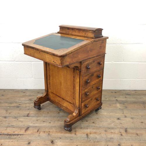 Antique Walnut Davenport Desk (1 of 11)