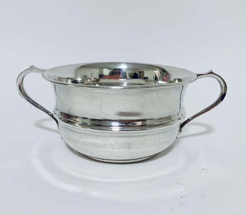 Antique Solid Silver Twin Handled Bowl (1 of 11)