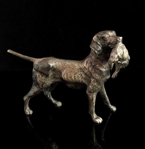 Vintage Gundog Figure, Spelter, Hunting Dog (1 of 9)