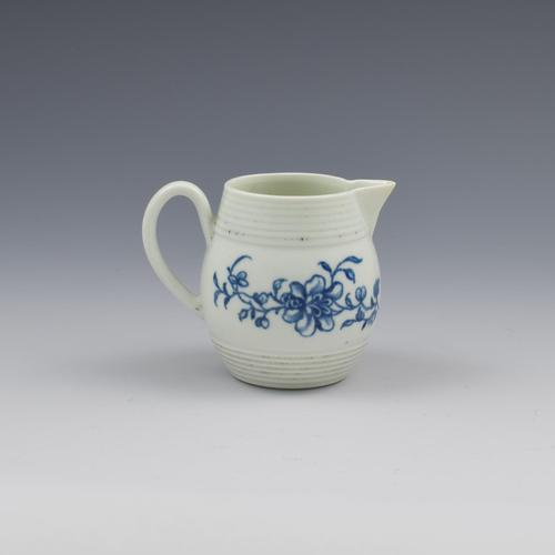 Rare First Period Worcester Porcelain Early Peony Print Cream Jug c.1758-1760 (1 of 10)