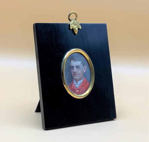 Fine 19thc Miniature Watercolour Portrait Painting of 'William George Dickinson' (1 of 11)