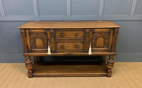 Ipswich Oak Carved Sideboard (1 of 16)
