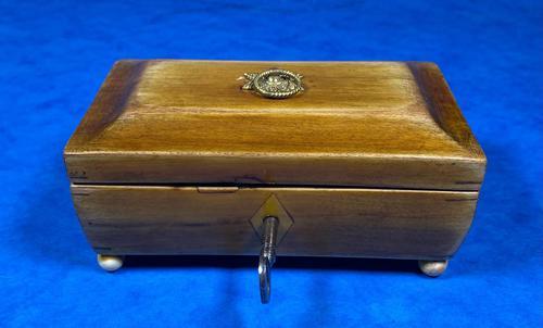 Regency Miniature Sycamore Box. (1 of 14)