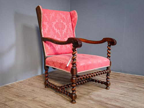 Charles II Period Winged Armchair (1 of 8)