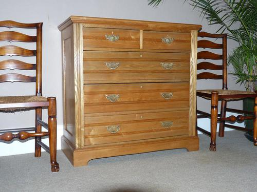 Edwardian Ash Chest of Drawers (1 of 7)