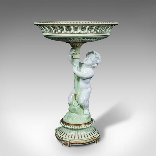 Antique Cherub Compote Dish, English, Decorative Putti, Grape Bowl, Victorian (1 of 12)