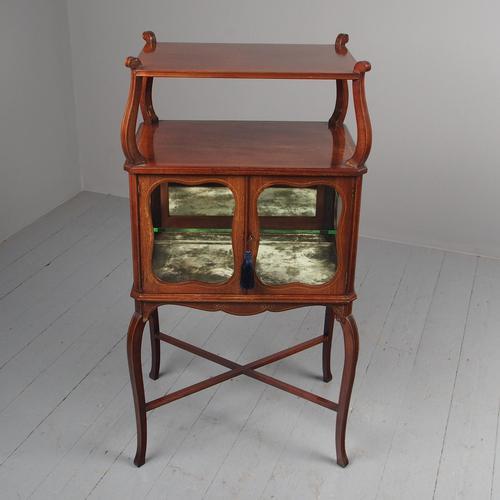 Victorian Inlaid Mahogany Display Table / Whatnot (1 of 12)