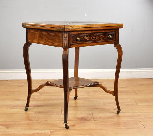 Victorian Rosewood Envelope Card Table (1 of 12)