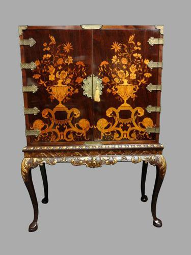 Outstanding Marquetry Cabinet on Stand (1 of 16)