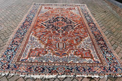 Antique Heriz roomsize carpet 347x246cm (1 of 9)