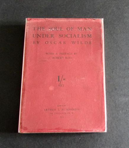 1912 1st Edition The Soul of Man  Under  Socialism by Oscar Wilde  with Original  Dust Jacket (1 of 5)