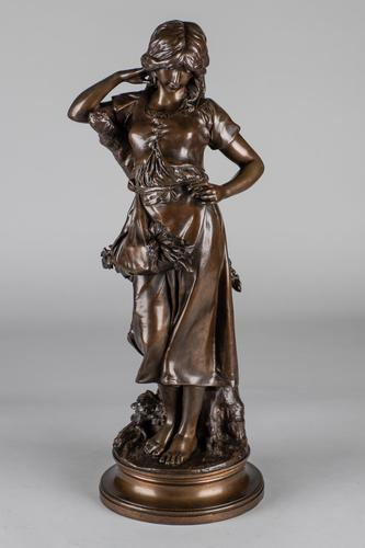 Large 19th Century French Bronze Sculpture of Female - Signed A.Gaude (1 of 9)