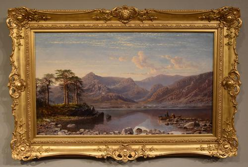 """Oil Painting by Charles Pettitt """"early Morning, Coniston Lake and Mountains, North Lancashire"""" (1 of 6)"""