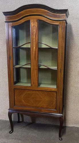 Edwardian Inlaid Mahogany Display Cabinet (1 of 13)