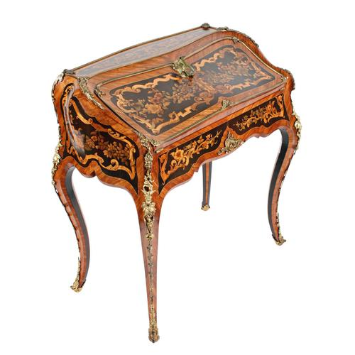19thc Louis XV Style Marquetry Bureau en Pente (1 of 14)