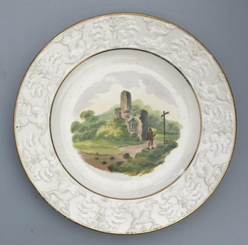 Good Staffordshire Pottery Painted Hand Painted Plate by Wilson c.1810 (1 of 6)