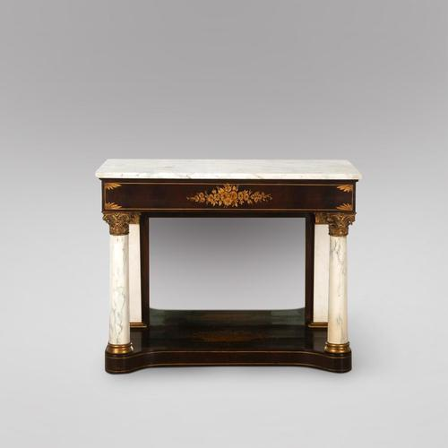 A Mahogany Console Table with Marble Top (1 of 5)