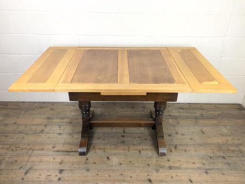 Antique Oak Draw Leaf Table (1 of 8)