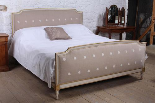 Simple French Upholstered Super King Size Bed (1 of 5)
