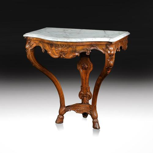 Early 18th Century French Regence Walnut Marble Console Table. (1 of 6)