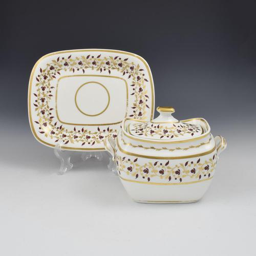 Spode Bone China Sucrier & Stand Pattern 1023 (1 of 8)