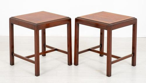 Simple Pair of Mahogany End Tables (1 of 4)