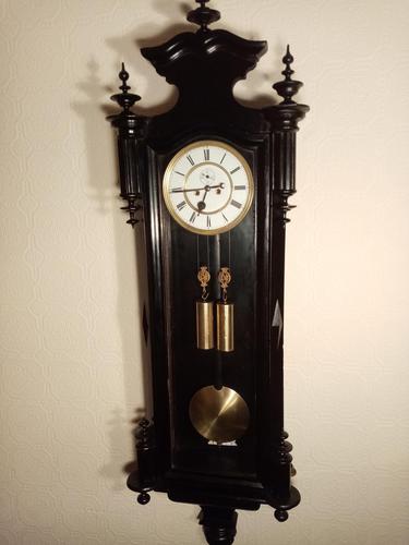 Ebonised Vienna Wall Clock. Gebruder Resch (1 of 7)